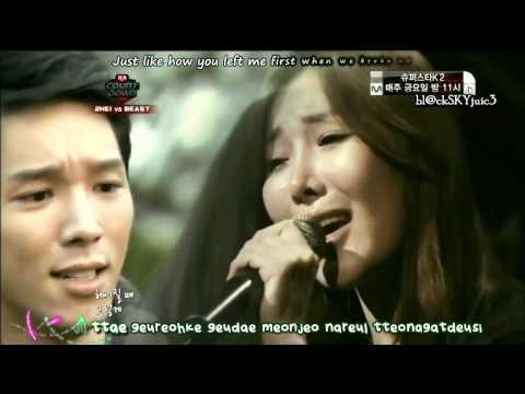 Davichi - The Second Break Up LIVE [eng sub+kara]