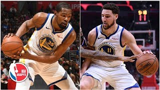 Kevin Durant, Klay Thompson put on offensive clinic in Warriors' Game 4 win   NBA Highlights