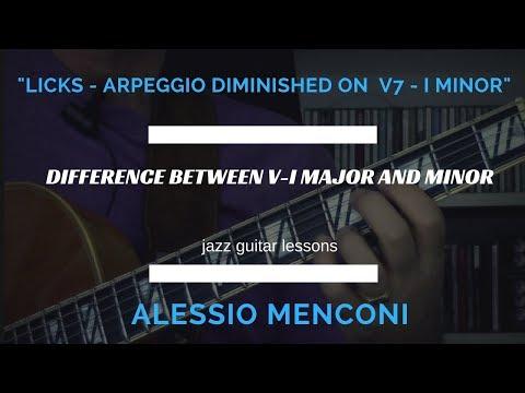 Licks- Arpeggio diminished on V7 - I minor - Alessio Menconi Guitar Lessons