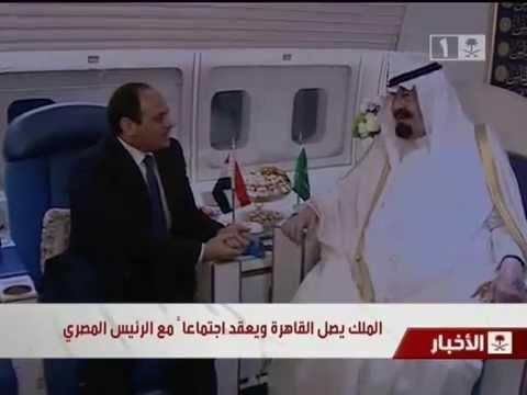 لقاء خادم الحرمين الشريفين بالرئيس المصري