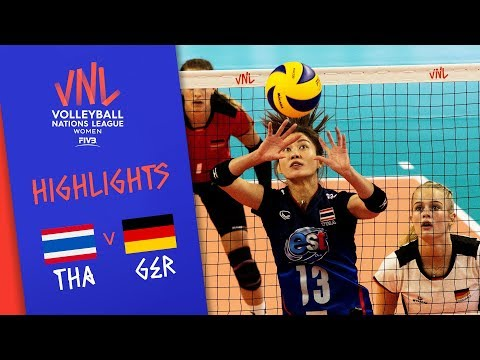 Thailand vs. Germany - Game Highlights Women  Week 1   Volleyball Nations League 2019