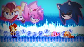 What happens in the duo survival of Tails and Knuckles, if