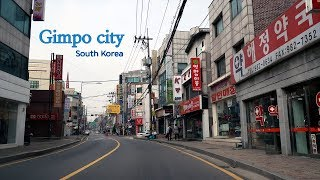 Driving in Korea: Downtown Gimpo city in Gyeonggi Province | 경기도 김포 구도심
