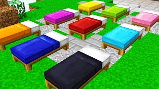 IMPOSSIBLE RAINBOW BED WARS CHALLENGE! (Minecraft Trolling)