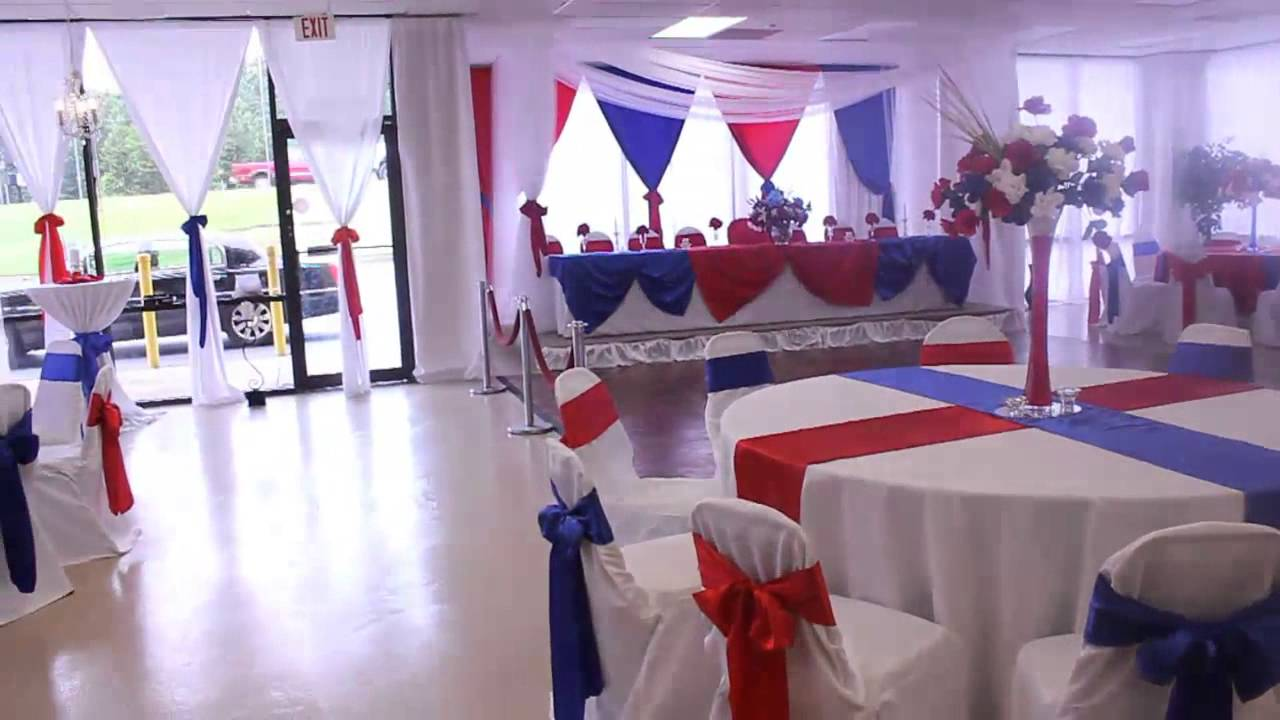 Military Retirement Red White And Blue Theme At The All