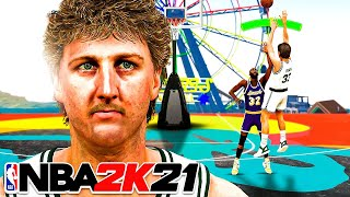 99 OVR LARRY BIRD GREENS IMPOSSIBLE 3 POINTERS in NBA 2K21...