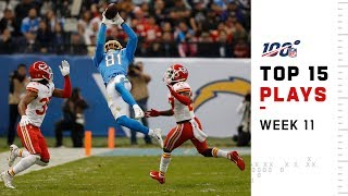 Top 15 Plays from Week 11   NFL 2019 Highlights