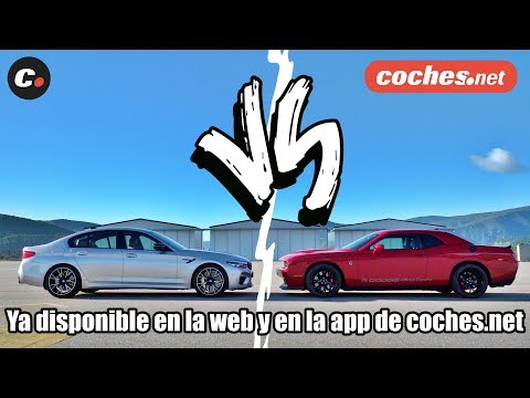DRAG RACE TRAILER BMW M5 Competition vs Dodge Challenger SRT Hellcat | coches.net