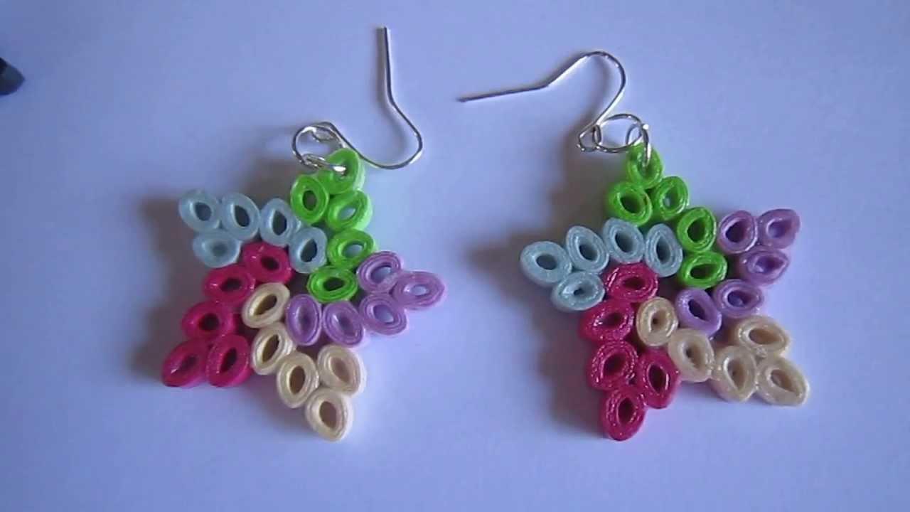 paper earrings handmade paper jewellery tutorial -#main