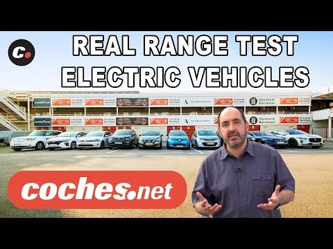 What is the range of electric cars in 2018"