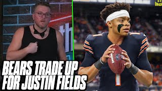 Pat McAfee Reacts To The Chicago Bears Trading Up For Justin Fields