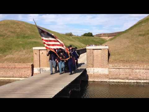 New York Volunteers Marching Out of Fort Pulaski