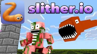 Monster School : SLITHER.iO CHALLENGE - Minecraft Animation