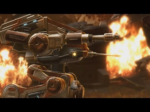 Star Wars The Old Republic: Destroying Everything in a Walker