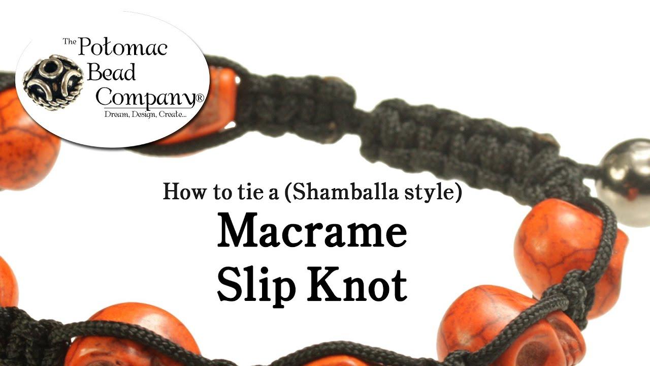 How To Tie A Macrame Shamballa Style Slip Knot Closure