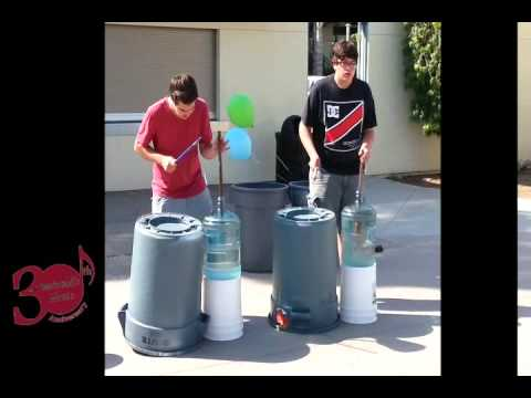 Stomp Percussion Drumming Scenes from High Tech Middle School in San Diego feat. John Albright
