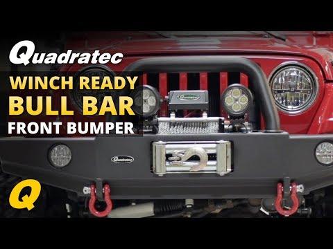 Quadratec Winch Ready Bull Bar Front Bumper for 97-06 Jeep Wrangler TJ