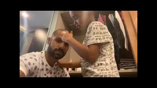 Watch: Shikhar Dhawan gets a makeover by son Zoraver..