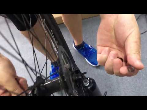 How to Assemble Electric Bike  Front Wheel with the Quick Release
