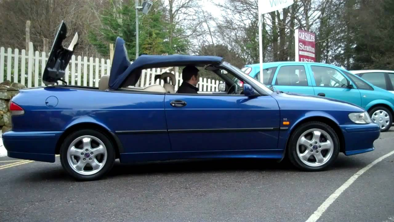 1999 saab 9 3 se turbo automatic convertible for sale youtube. Black Bedroom Furniture Sets. Home Design Ideas
