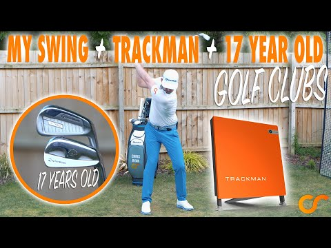 MY GOLF SWING WITH TRACKMAN NUMBERS AND 17 YEAR OLD GOLF CLUBS