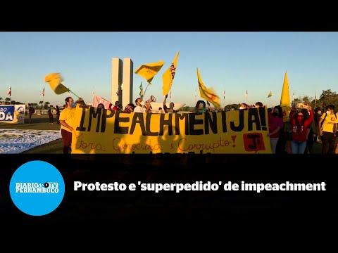 Protesto em Brasília marca superpedido de impeachment de Bolsonaro