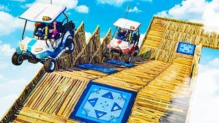 *NEW* BIGGEST RACE TRACK EVER IN FORTNITE PLAYGROUND