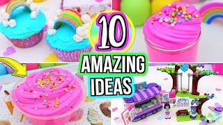 10 FUN Things To Do When You're BORED! DIY Slime, DIY Rainbow Cupcakes & DIY ROOM DECOR!