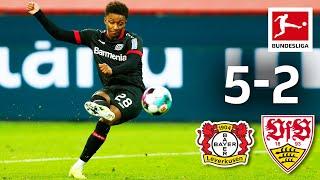 Gray with Debut Goal in 7-Goal Spectacle | Bayer 04 Leverkusen - VfB Stuttgart | 5-2 | Highlights