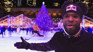 Playing Hockey  With Fans At An Outdoor Rink In New York City!!   PK Subban Vlogs with@Lindsey Vonn