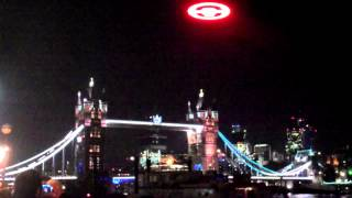 Computer game Halo 4 UFO over London