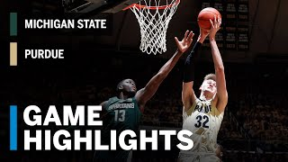 Extended Highlights: Michigan State at Purdue | Big Ten Basketball
