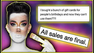 JAMES CHARLES WILL NOT BE ISSUING REFUNDS FOR TOUR & SISTERS APPAREL