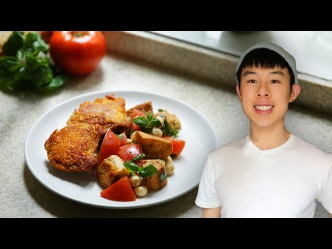Alvin's Crispy Chicken Thighs and Caprese Bread Salad // Presented by Tasty and Ajinomoto Co., Inc.