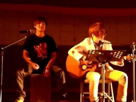 戀愛(自創曲)+逆風飛翔(蕭煌奇) 廖捷揚與吳英睿系上尾牙表演 上