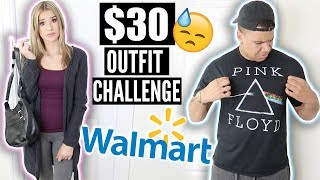GIRLFRIEND VS BOYFRIEND $30 WALMART OUTFIT!