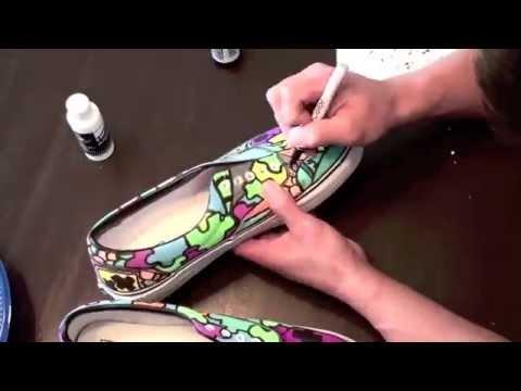 custom shoes sloth custom vans time lapsed youtube