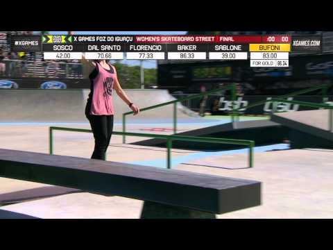 Leticia Bufoni wins gold in Women's Skate Street