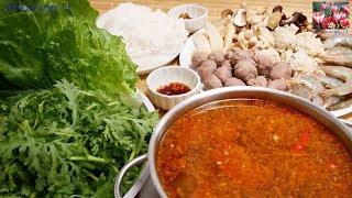 Lẩu thập cẩm - Cách nấu Lẩu Sa tế chua cay cho người lớn và trẻ nhỏ thật thơm ngon by Vanh Khuyen