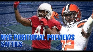 New York Giants 2019 Safties Preview | Positional Preview Series