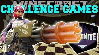PopularMMOs Pat and Jen Minecraft: FORTNITE GUN CHALLENGE GAMES - Lucky Block Mod - Modded Mini-Game