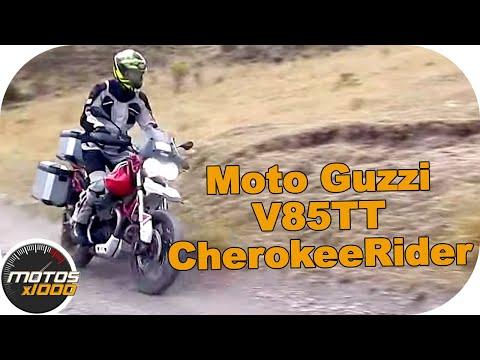 Con la Moto Guzzi V85TT en la Cherokee Rider | Motosx1000