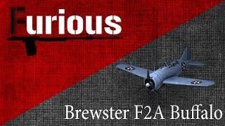 Brewster F2A Buffalo. Бодается.