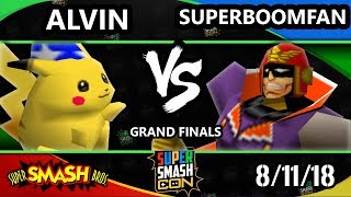 SSC 2018 SSB - CLN | Alvin (Pikachu) Vs. PG | SuPeRbOoMfAn (Captain Falcon) - Smash 64 GF
