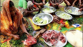 Best Way Of Eating Big Fish Head - Fish Head, Mung Bean & Bottle Gourd Mixed Curry - Muri Ghonto