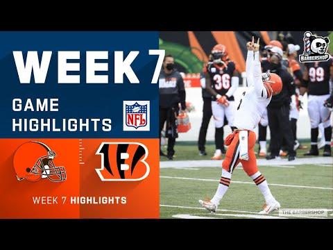 NFL Week 7  Browns vs. Bengals Highlights