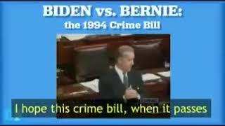 "Joe Biden vs Bernie Sanders 1994 Crime Bill ""Tough on Crime""/pro-police Biden/""Help the Poor"" Bernie"