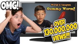 WHO ATE THE WORLD'S LARGEST GUMMY WORM??? Kids React to Their Most Popular Video! TOP 10 - #2