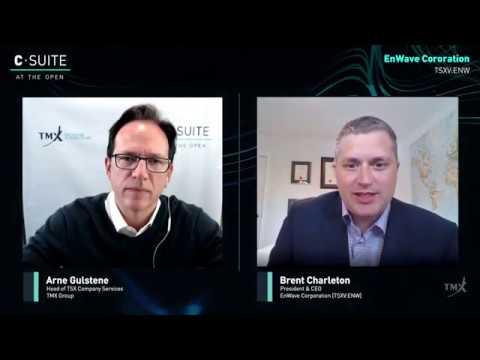 VIDEO: Brent Charleton, President and CEO, EnWave Corporation. Filmed April 28, 2020.