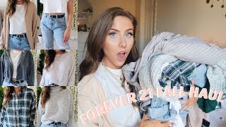 FOREVER 21 FALL TRY ON HAUL | AFFORDABLE CLOTHES!